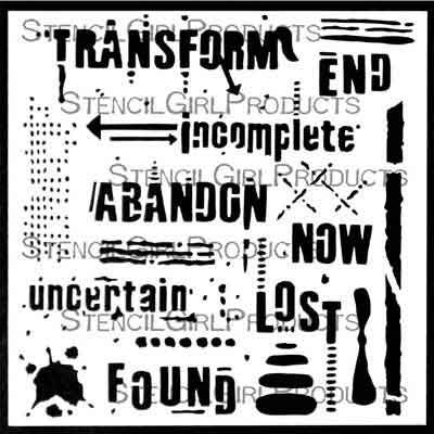 Text and Texture Transform by Seth Apter for StencilGirl