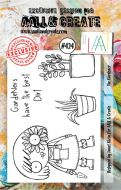 The Gardener (No. 424) A7 sized stamp by Janet Klein for Aall and Create (AAL00424)