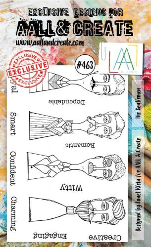 The Gentlemen No. 463 Janet Klein Aall and Create A6 Stamp Set