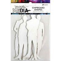 The Men Dina Wakley Media Chipboard Shapes (MDA74977)
