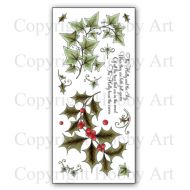 The Holly & The Ivy Hobby Art Clear Stamp Set CS137D