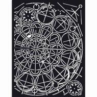 Thick Stencil 15 x 20 cm Sir Vagabond geometry Stamperia (KSAT13)