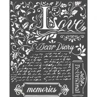 Thick Stencil 20 x 25 cm Dear Diary Stamperia (KSTD059)