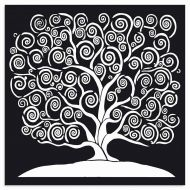 Thick Stencil 30 x 30 cm Tree of life Stamperia (KSTDG05)