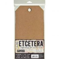 Tim Holtz (Max 2 per customer and UK only) Etcetera Medium Tag (2 pack) 6.5 inch by 12 inch THETC002
