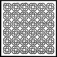 Timeless Celtic Knots Stencil designed by June Pfaff Daley for Stencil Girl (6 inch by 6 inch)