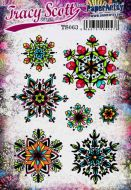 Tracy Scott 063 (TS063) PaperArtsy A5 sized Cling Rubber Stamp Set