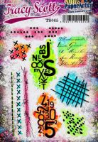 Tracy Scott 065 (TS065) PaperArtsy A5 sized Cling Rubber Stamp Set