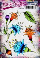 Tracy Scott 61 A5 Cling Rubber Stamp Set (TS061) for PaperArtsy