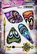 Tracy Scott 62 A5 Cling Rubber Stamp Set (TS062) for PaperArtsy