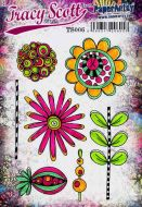 Tracy Scott TS006 (Was ETS06) A5 Cling Rubber Stamp Set