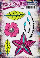 Tracy Scott TS016(Was ETS16) PaperArtsy Cling Rubber Stamp Set
