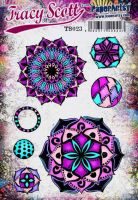 Tracy Scott TS023(Was ETS23) PaperArtsy Cling Rubber Stamp Set