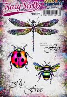 Tracy Scott TS027(Was ETS27) PaperArtsy Cling Rubber Stamp Set