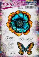 Tracy Scott TS028(Was ETS28) PaperArtsy Cling Rubber Stamp Set