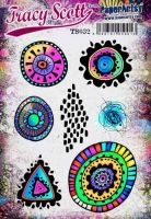 Tracy Scott TS032(Was ETS32) PaperArtsy Cling Rubber Stamp Set