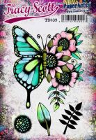 Tracy Scott TS039(Was ETS39) PaperArtsy Cling Rubber Stamp Set