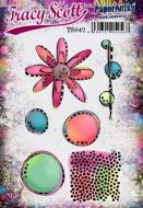 Tracy Scott TS042 (Was ETS42) PaperArtsy Cling Rubber Stamp Set