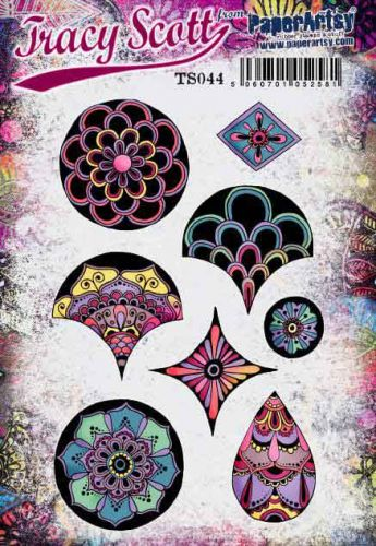 Tracy Scott TS044(Was ETS44) PaperArtsy Cling Rubber Stamp Set