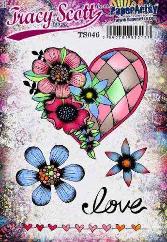 Tracy Scott TS046 PaperArtsy Cling Rubber Stamp Set