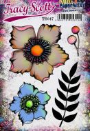 Tracy Scott TS047 PaperArtsy Cling Rubber Stamp Set