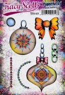Tracy Scott TS049 PaperArtsy Cling Rubber Stamp Set