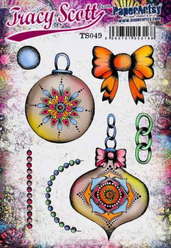 Tracy Scott TS049PaperArtsy Cling Rubber Stamp Set