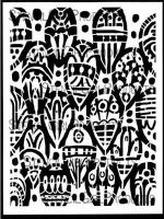 Tribal Leaves 9 inch by 12 inch Stencil (L213) by Kae Pea for StencilGirl