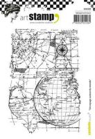 A trip around the World - Carabelle Studio a6 cling rubber stamp (SA60288)