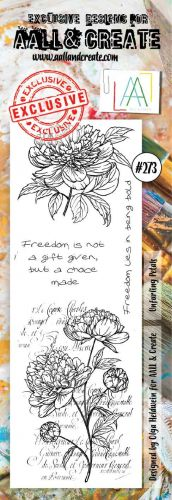 No. 273 Unfurling Petals Aall and Create Border Stamp