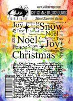 Christmas Backgrounds Visible Image A6 stamp set (VIS-CWB-01)