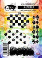 De stressed grunge background stamp set