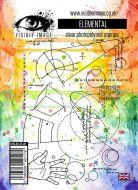 Elemental blueprint background stamp