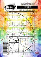 Fibonacci maths grid background stamp