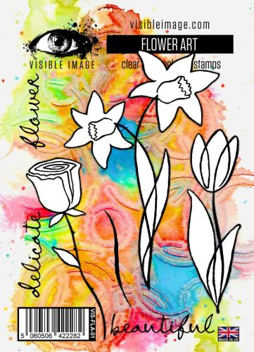 Flower Art stamp set by Visible Image