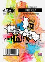Inked Holly Visible Image (10cm x 7cm) stamp (VIS-INH-01)