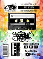 Just Hit Play stamp set cassette tape Music