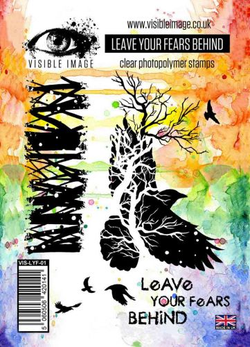 Leave Your Fears stamp set crow tree