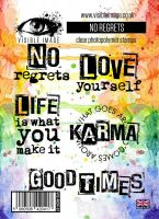 No Regrets stamp set inspiring quotes