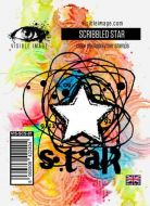 Scribbled Star Visible Image (10cm x 7cm) stamp (VIS-SCS-01)