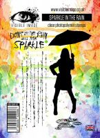 Sparkle in the Rain stamp set umbrella lady