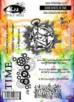 Somewhere in Time stamp set smashed clock