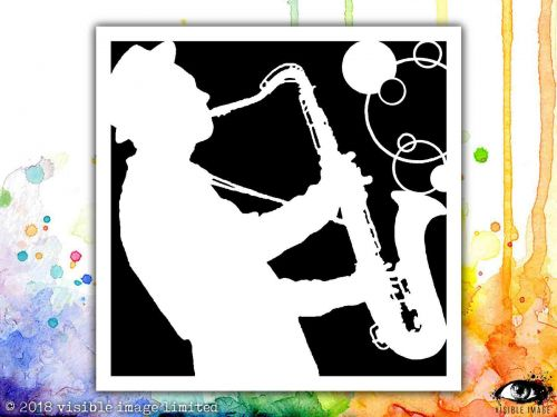 Sax It Up Visible Image Stencil
