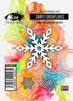 Simply Snowflakes Visible Image (10cm x 7cm) stamp (VIS-SSN-01)