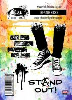 Teenage Kicks stamp set trainers converse