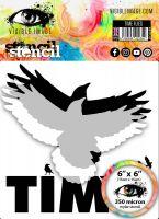 Time Flies Stencil Visible Image 2020 (VISTFL03)