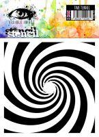 Time Tunnel stencil spiral
