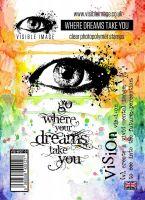 Where Dreams Take You stamp set grungy eye
