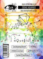 Zodiac Aquarius stamp set