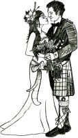 Crafty Stamps - Scottish Wedding Couple 4 Small - WD164M